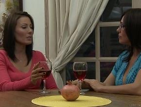 Después de tomarse unas copas de vino llegan juntas al orgasmo