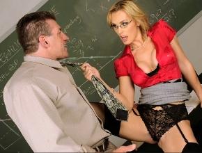 Reunión sexual de profesores en la escuela